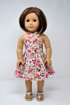 Fit For 18/'/' American Girl Blue Watermelon Summer Party Dress Gift Doll Clothes