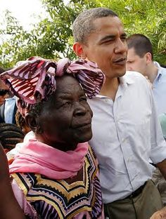 President-Elect Barack Obama & Sarah Hussein Obama, his grandmother, during the visit to Nyongoma Kogelo village in Kenya. Obama, the first African American President, is the descendant of a World War II veteran who joined the Land and Freedom Army. http://www.flickr.com/photos/53911892@N00/453272152/