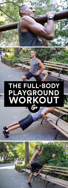 Turn any park into a (free!) gym with these creative moves that challenge every major muscle. #workout #bodyweight #fitness http://greatist.com/fitness/bodyweight-playground-workout