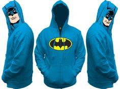 Batman All View Men's Zip Hooded Sweatshirt