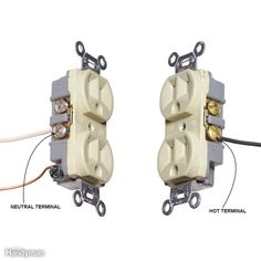 Mistake 9: Reversing Hot and Neutral Wires - Solution: Identify the neutral terminalSolution: Identify the neutral terminalConnecting the black hot wire to the neutral terminal of an outlet creates the potential for a lethal shock. The trouble is that you may not realize the mistake until someone gets shocked, because lights and most other plug-in devices will still work