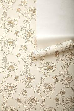 Inked Peonies Wallpaper - Anthro