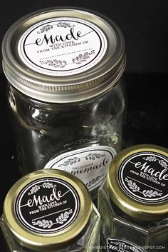 Free Printable Homemade Mason Jar Labels - mintedstrawberry.blogspot.com