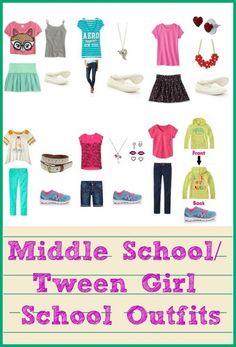 middle school / tween girl back to school oufits
