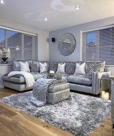 Bedroom Decor Grey Pink, Grey Home Decor, Living Room Designs, Living Room Decor, Living Rooms, Home Themes, Inspire Me Home Decor, Luxury Living, Room Inspiration