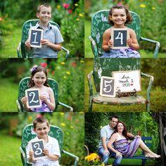 Pregnancy announcement with siblings- Jayde & Jayne photography, Atlanta