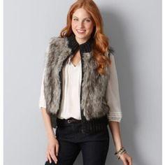 Ann Taylor LOFT Faux Fur Vest Never worn! Brand new. Adorable faux fur vest from loft. Would fit a medium or a large comfortably, NO TRADES PLEASE LOFT Jackets & Coats Vests