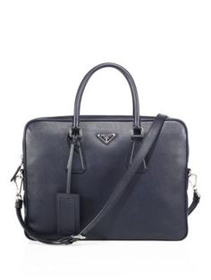 PRADA Saffiano Leather Briefcase.  prada  briefcase 3604585983e3f