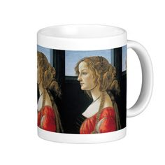 Portrait of a Young Woman by Botticelli Coffee Mugs