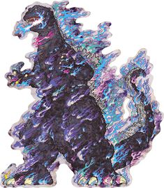 Godzilla, Takashi Murakami Art, Japanese Contemporary Art, Superflat, Monster Illustration, Tattoo Project, Traditional Paintings, Japanese Artists, Art Plastique