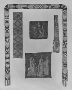 ca. 1100-1299 (made) Museum number:  838-1894 Gallery location:  In Storage Descriptive line  part, woven silk, 1100-1299c, German; Tablet woven, fleurs-de-lys and lozenges Really tablet woven???