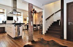 Kitchen, brick wall, brick column. Robyn Porter, REALTOR www.robynporter.com