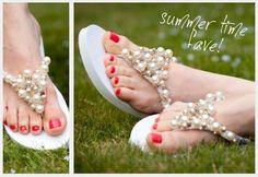 Tendenciosa ( el diario de mi armario ): Sunday DIY: Flip-flops with pearls