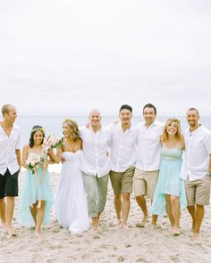 Beach Wedding, friends, laughter, wedding group shots, bridal party