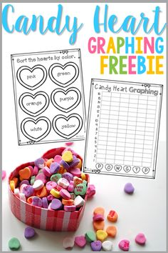 February is the time for fun learning! Engage your students in a math activity by having them graph their candy hearts with this fun freebie! Valentines Day Activities, Valentines Day Party, Holiday Activities, Valentine Day Crafts, Valentine Nails, Children Activities, Preschool Themes, Valentine Wreath, Preschool Art