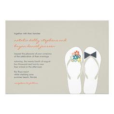 1000 Images About Flip Flop Wedding Invitations On Pinterest Beach Wedding
