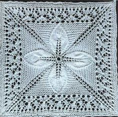 Quilt (Square Counterpane with Leaves) - Knit Free Pattern | Knit Free Patternknit free pattern