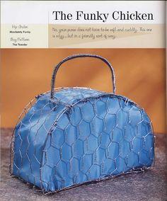 borsa diversa fatta con la rete di ferro zincato.
