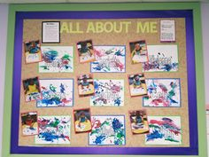 Name bulletin board. All About Me unit. Toddler Daycare Rooms, Infant Toddler Classroom, Toddler Teacher, Toddler Themes, Childcare Rooms, All About Me Preschool Theme, All About Me Crafts, All About Me Art, All About Me Activities