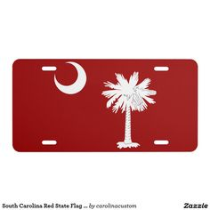 South Carolina Red State Flag License Plate - Car Floor Mats License Plates, Air Fresheners, and other Automobile Accessories