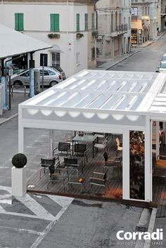 KUBO Container Cafe, Pergola Patio, Shed, Nice, Outdoor Decor, Color, Home Decor, Courtyards, Decoration Home