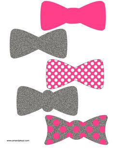 Bowties from Baby Princess Minnie Printable Photo Booth Prop Set