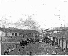 Parque principal de caldas esta fotografía es mas omenos de 1890 - publicada por luis Maria Usma