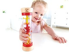 Hape Beaded Raindrops Rainmaker Toddler Musical Toy in Red Sensory Toys, Sensory Activities, Infant Activities, Toddler Instruments, Country Critters, Play Cube, Hape Toys, Wooden Playset, Wooden Toys