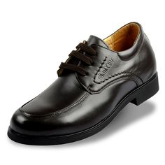 Black  | Chocolate  height increase shoe 7cm / 2.75inch with the SKU:MENXJD_006-3 - Increasing height shoes for wedding groom invisibly taller 7cm / 2.75inches cow leather elevator dress shoes