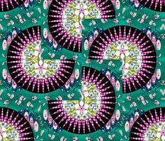 Japanese_Fans. fabric by art_on_fabric on Spoonflower - custom fabric