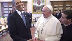 #FotoDelDía Se reúnen el Papa Francisco y Barack Obama