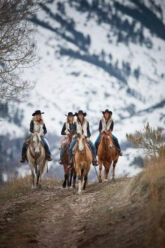 .Four Girls Attempting To Track Dad Down, Good Luck as I'm Always Up On The Hill Watching You Go By One Step Ahead Always