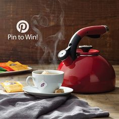 PIN TO WIN: Circulon® Morning Bird Teakettle, Rhubarb Red {Giveaway Ends 9/28/14} #TimeforTea
