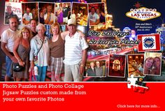Viva Las Vegas...! What a great way to celebrate a 50th anniversary. Congratulations to Dan and Rita. Photo Collage Puzzle designed by jigsaw2order.com. Leave a comment and let us know what you think! #photo #collage #jigsaw #puzzle #anniversary
