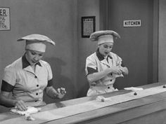 another *Classic* scene here as Lucy and Ethel are wrapping chocolates - their last chance to keep their jobs at a chocolate factory.