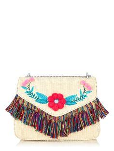 Skinnydip London Mini Laureli Raffia Bag