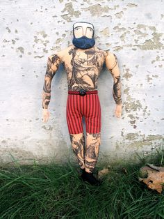 tattooed man with beard by mck254 on Etsy, $250.00