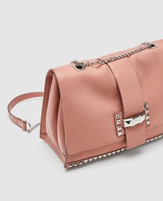 Image 1 of STUDDED LEATHER CROSSBODY BAG from Zara