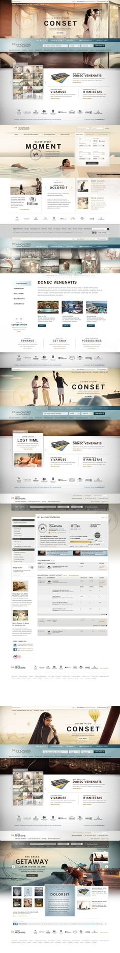 Hilton Web Re Design Layout Ideas Complete Mockup Graphic Design Inspirational Webdesign 2 Portfolio Web Design, Web Ui Design, Best Web Design, Portfolio Layout, Creative Design, Website Design Inspiration, Layout Inspiration, Web Layout, Layout Design