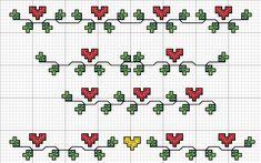 Tiny Cross Stitch, Cross Stitch Boards, Cross Stitch Bookmarks, Cross Stitch Heart, Cross Stitch Alphabet, Cross Stitch Flowers, Modern Cross Stitch, Cross Stitch Designs, Cross Stitch Patterns