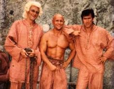 Stuart Devenie, Barry Duffield and Bruce Campbell behind the scenes of Jack of all Trades (Croque for a Day)