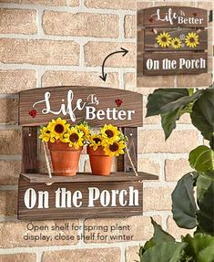 April 2021 LTD Patio Signs, Porch Signs, Outdoor Entryway Decor, Garden Spinners, Wind Spinners, Hanging Wall Planters, Spring Plants, House Plants Decor, Country Farmhouse Decor