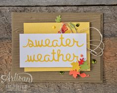 quick & easy card with the Seasonal Snapshot Project Life Collection! - Krista Frattin