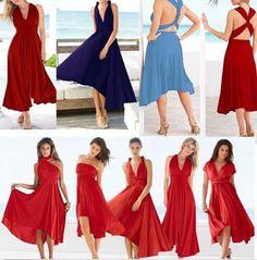 Sexy Multi Way Convertible Dress Flirty Free Fall Beach Party Dresses One Size  #SexyMultiChina #BeachDress #SummerBeach