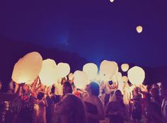 Floating paper lanterns    :) This is going to be my favorite part of the wedding. Everyone makes a wish for the couple before releasing the lanterns!
