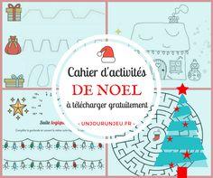 De quoi occuper vos enfants pendant la période de Noël : points à relier, labyrinthes, 7 différences et autres activités qu'ils vont adorer.