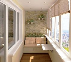 Cozy And Covered Balcony At Apartment