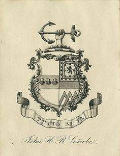 [Bookplate of John H.B. Latrobe] by Pratt Libraries, via Flickr