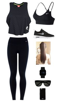 """""""Untitled #2754"""" by twerkinonmaz ❤ liked on Polyvore featuring NIKE, 1:Face, Yves Saint Laurent and Givenchy"""