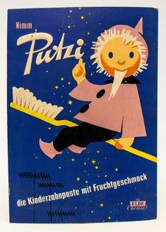 """DDR Museum - Museum: Objektdatenbank - """"Werbeschild Putzi"""" Copyright: DDR Museum, Berlin. Eine kommerzielle Nutzung des Bildes ist nicht erlaubt, but feel free to repin it!"""